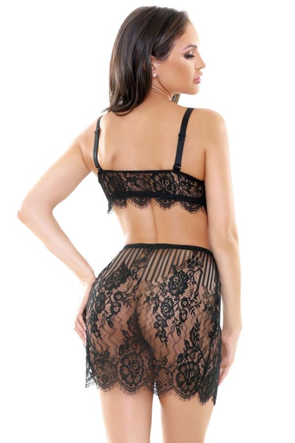 Trisha Lace Bustier Skirt Set Tease B463