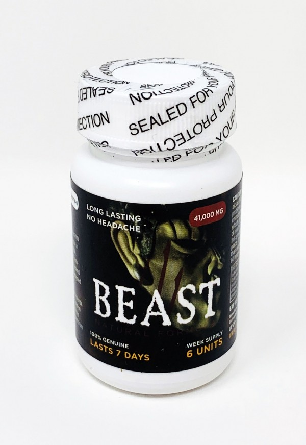 Beast 41000 Male Sexual Capsule 6 Count Bottle
