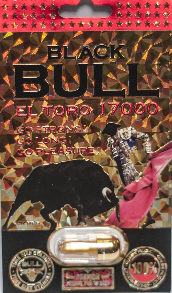 Black Bull El Toro 17000 Premier Male Enhancer Gold Pill For 12 Days