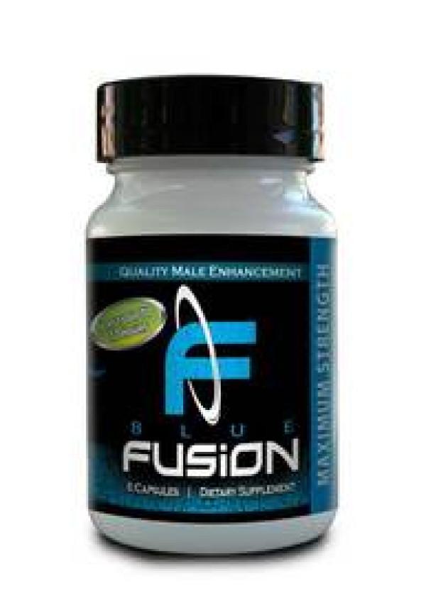 Blue Fusion Male Enhancement 500mg  6 Pill Bottle