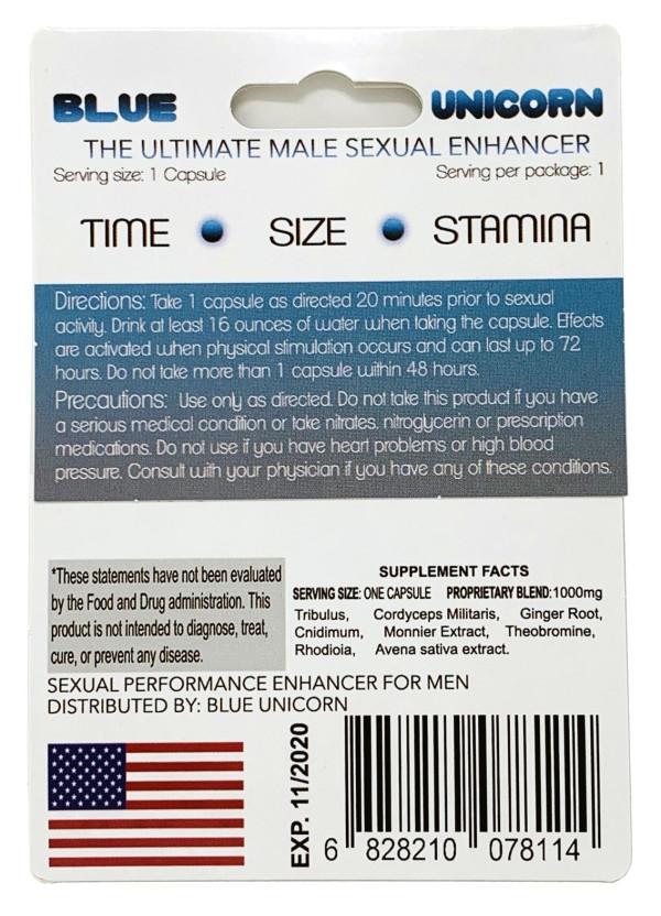 Blue Unicorn Male Sexual Enhancement Blue Capsule