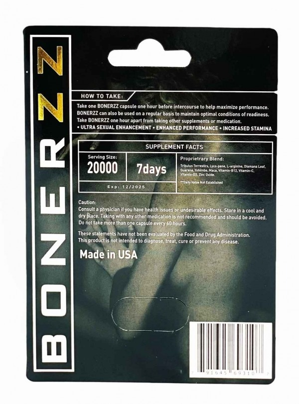 Bonerzz 20000 Male Performance