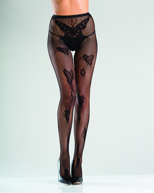 Crotchless Butterfly FIshnet Tights BW780 Lingerie