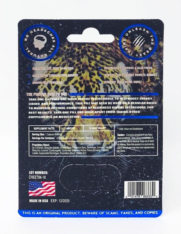 Cheetah Blue Male Enhancement pill