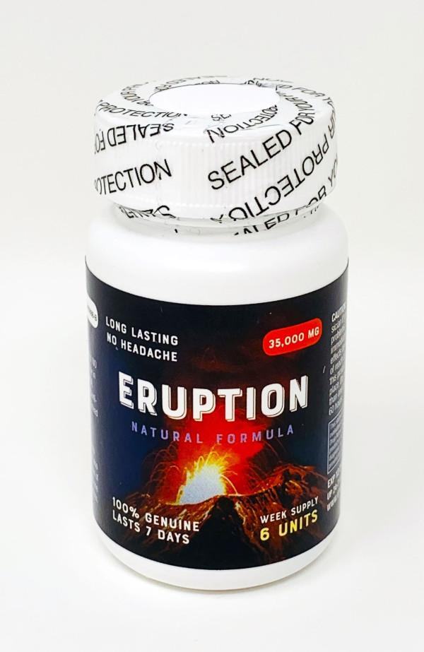 Eruption 35000mg Male Sexual Enhancement Gold 6 Count Bottle Pill