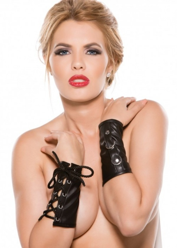 Faux Leather Ring Arm Guards G-3005