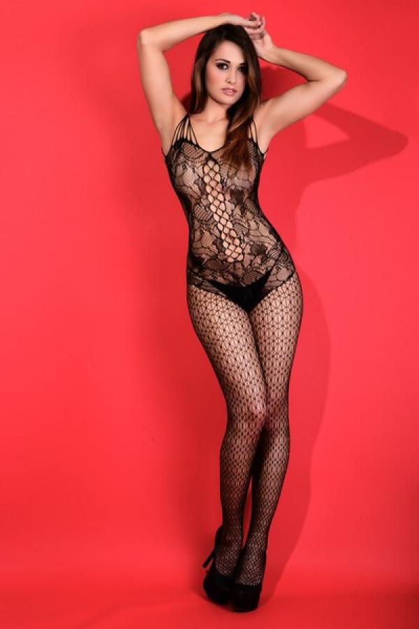 Lady's Keller Legs Fishnet Body Stocking 818JT093 Yelete Group Lingerie