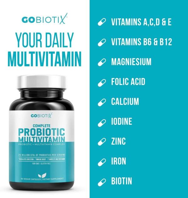 GoBiotix Probiotic Multivitamin Probiotics Immune 90 Veggie Caps