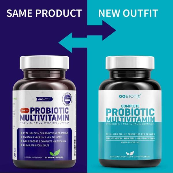 GoBiotix Probiotic Multivitamin Probiotics Immune Boost Digestive Health