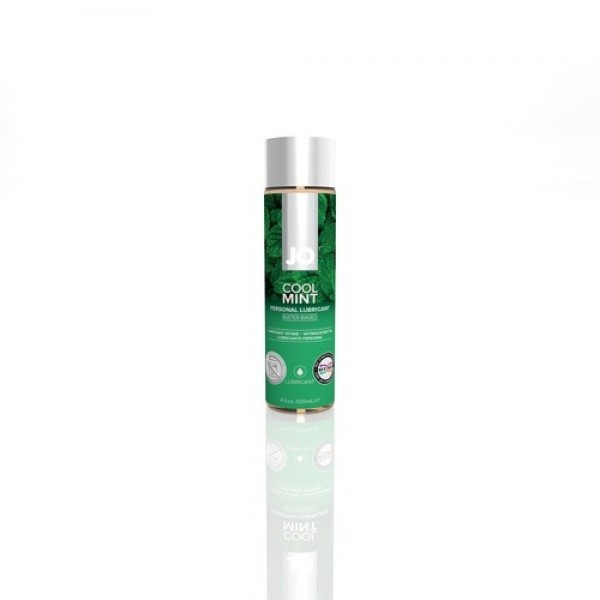 Jo H2O Cool Mint Flavored Personal Water Based Lubricant 4 Oz