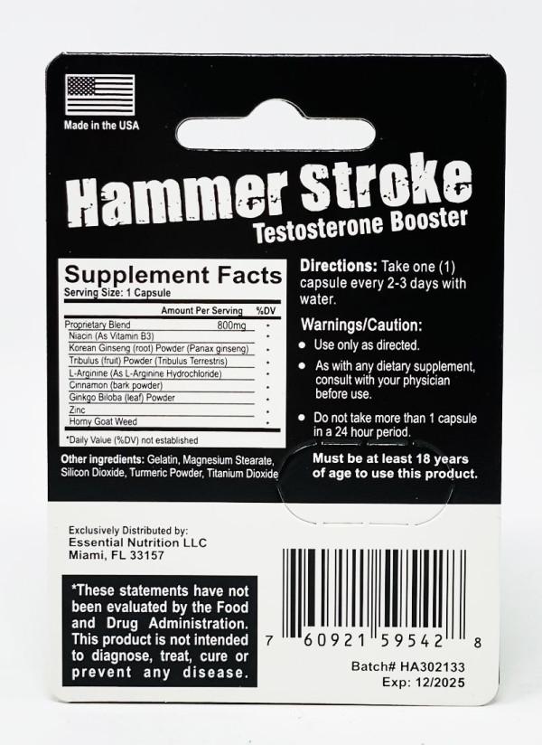 Hammer Stroke Testosterone Booster Performance Longevity