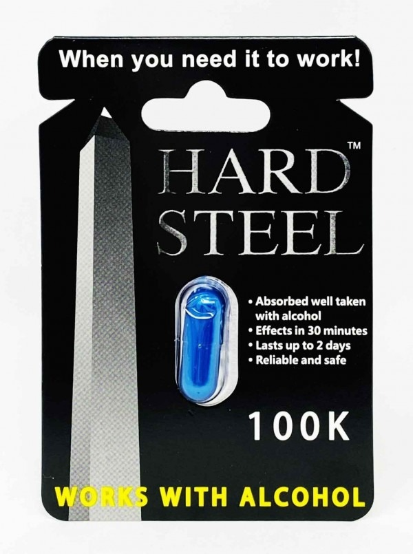 Hard Steel Male Enhancement Libido 100K Pill Works With Alcohol