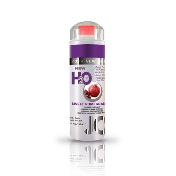 Jo H2O Flavored Lubricant Sweet Pomegranate 5.25 fl.oz/ 150ml System Jo