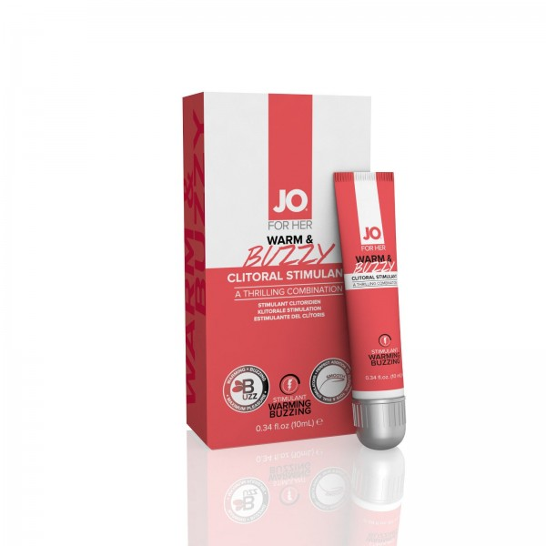 System Jo Warm & Buzzy Clitoral Stimulant For Her 0.34 Oz