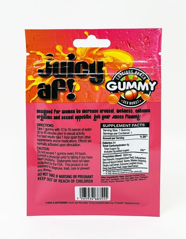 Juicy AF Female Enhancer Gummy Vegan Friendly
