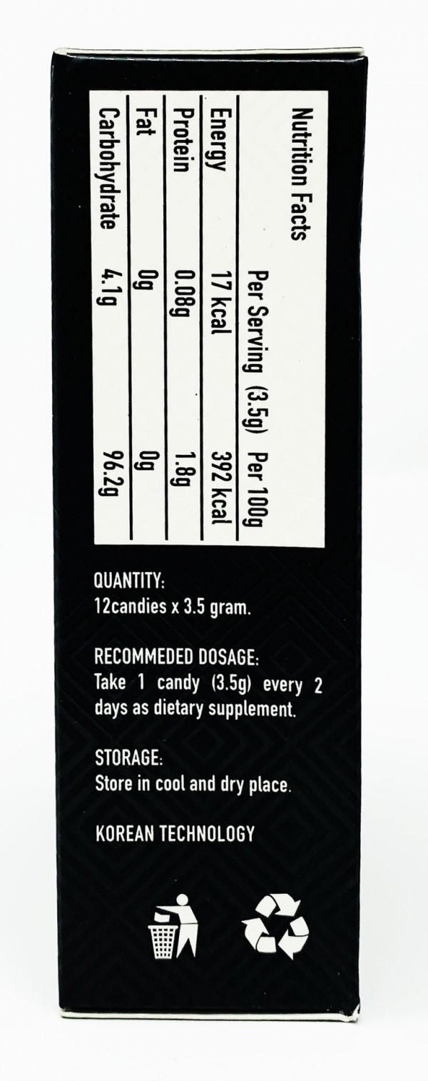 Kings Candy 12 Count Coffee Ginseng Male Enhancement Pill Back
