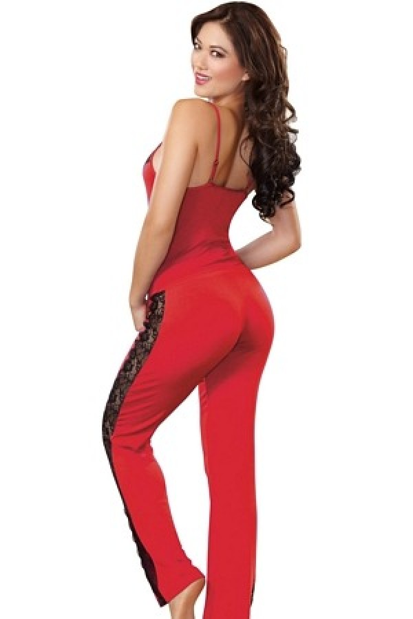 Dreamgirl 9704 Soft Stretch Sleepwear Camisole Top And Pants