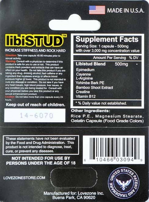 libiSTUD Increase Sexual Desire and Confidence 3000mg 7 Days
