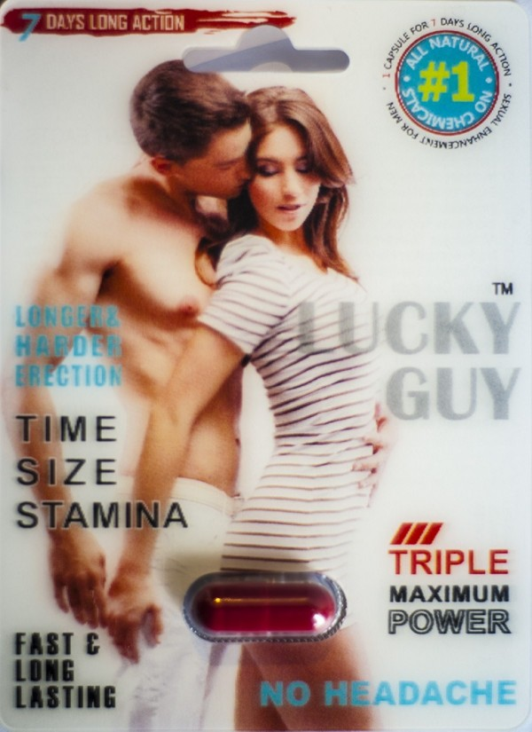 Lucky Guy Triple Maximum Power Male Sexual Performance Enhanacement Pill