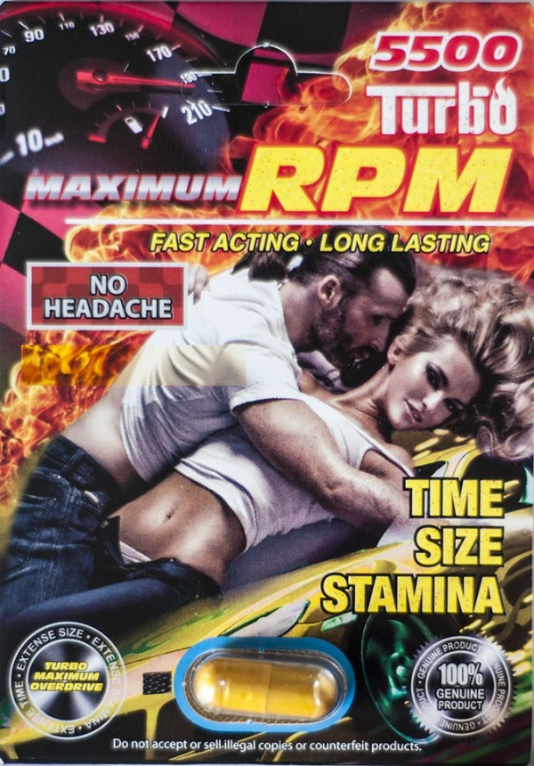 Maximum Overdrive RPM Turbo 5500 Male Sexual Enhancer Pill