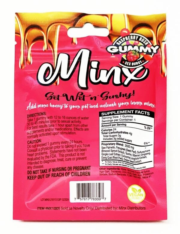 Minx Gummy Female Enhancer Vegan Friendly