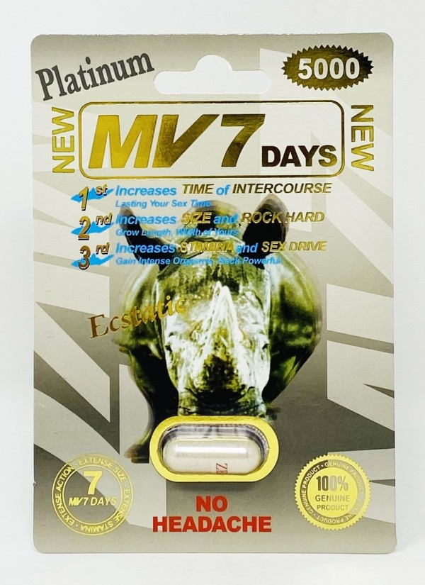 MV 7 Days Platinum 5000mg  Male Sexual Enhancement Pill
