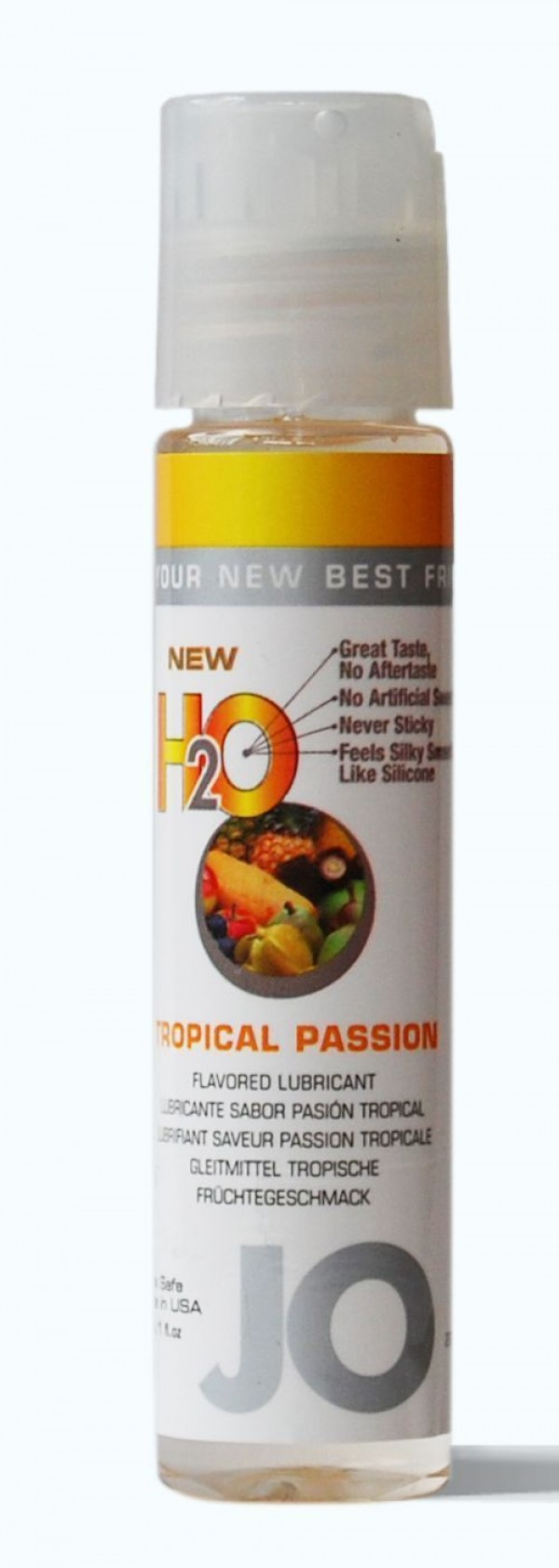 Jo H2O Tropical Passion Lubricant 1 fl.oz/ 30ml Travel Size