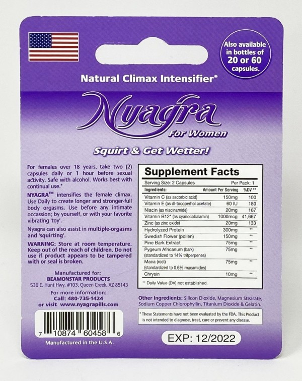 Nyagra Female Sensual Enhancement White Double