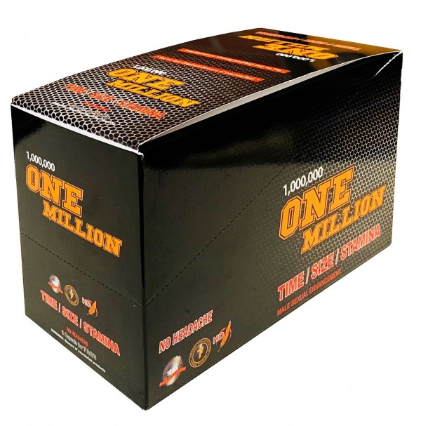 One Million 1000000 Male Sexual Enhancement Gold Pill Box