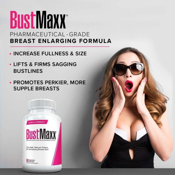 BustMaxx Women Natural Breast Enlargement Augmentation Pill 60ct