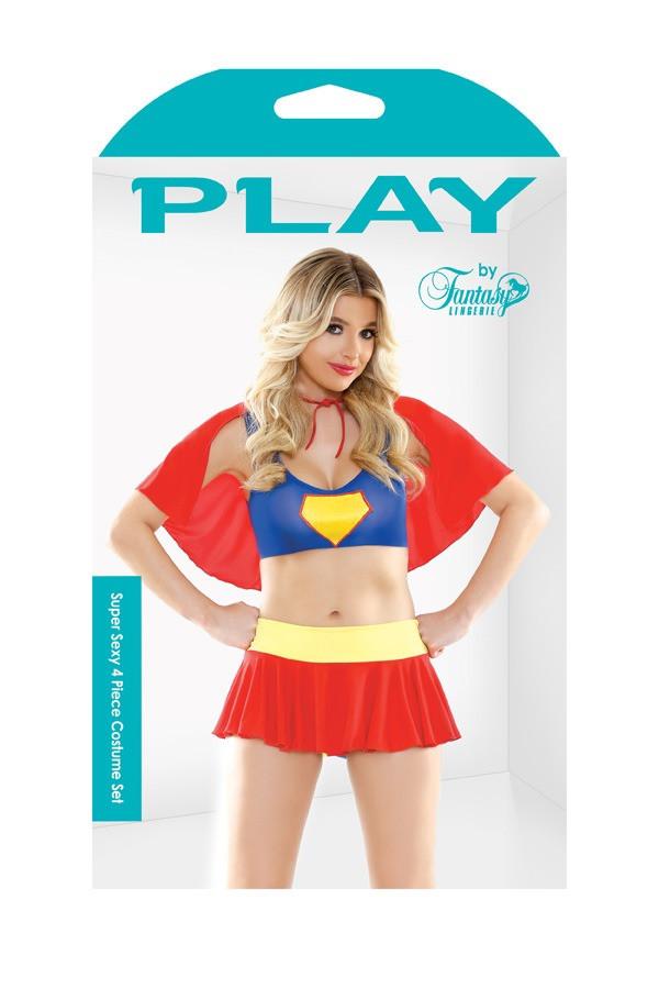 Super Sexy 4 Piece Costume Set Play PL1603