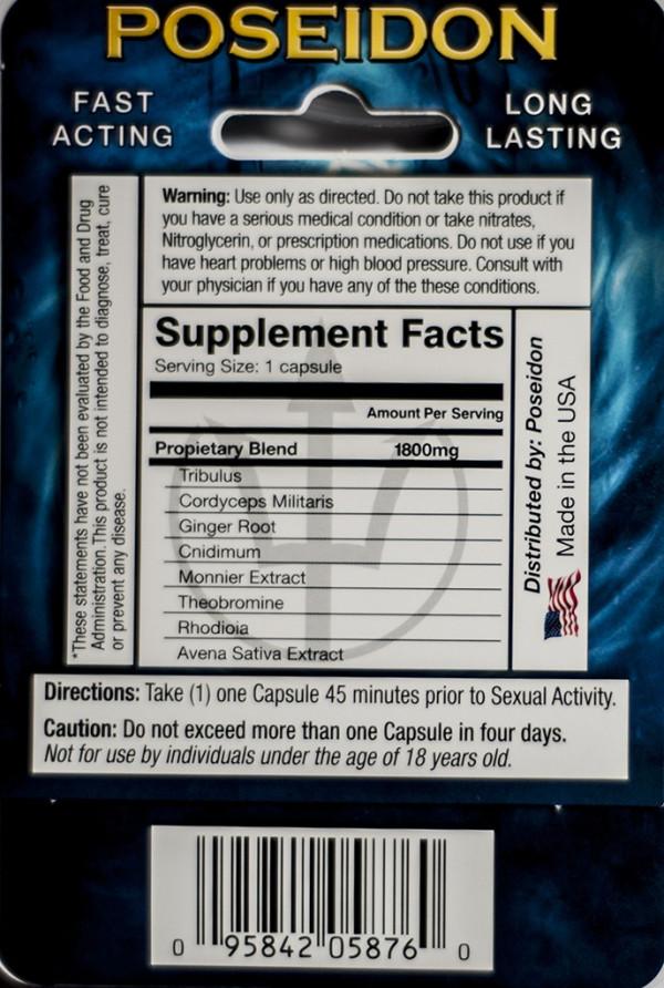 New Poseidon Platinum 3500 mg Sexual Dietary Supplement