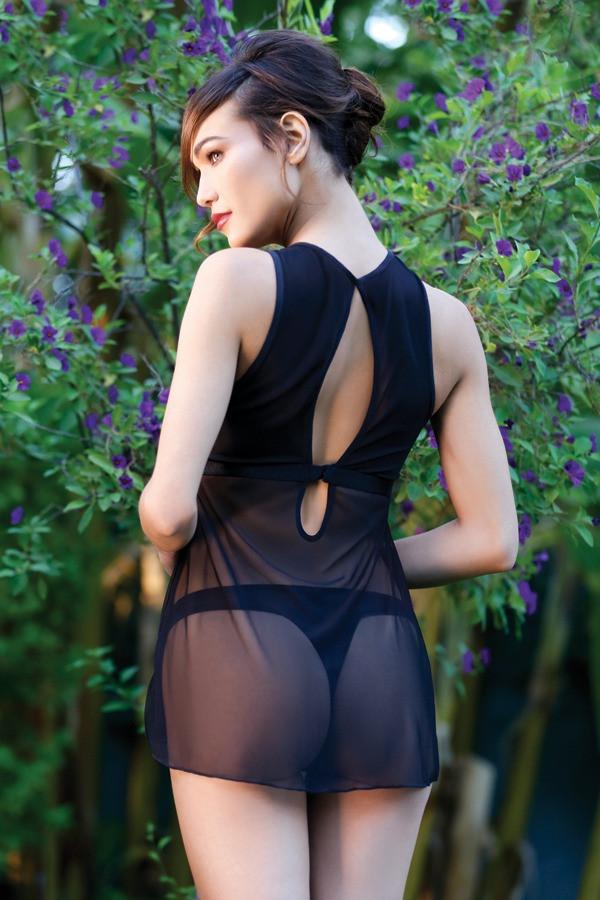 Lola Embroidery Babydoll Thong Panty Premiere FL1707