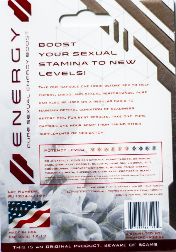 Pure 4000 Sexual Energy Enhancer Red Pill