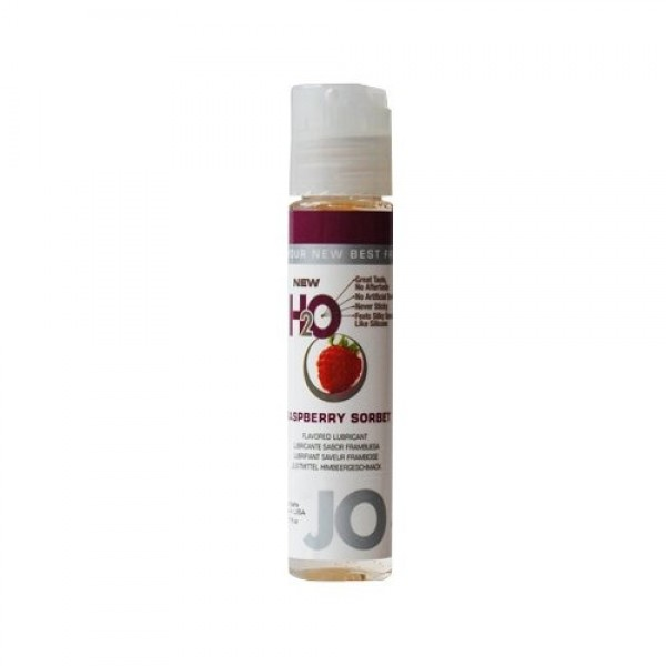 Jo H2O Raspberry Sorbet Lubricant 1 fl.oz/ 30ml Travel Size
