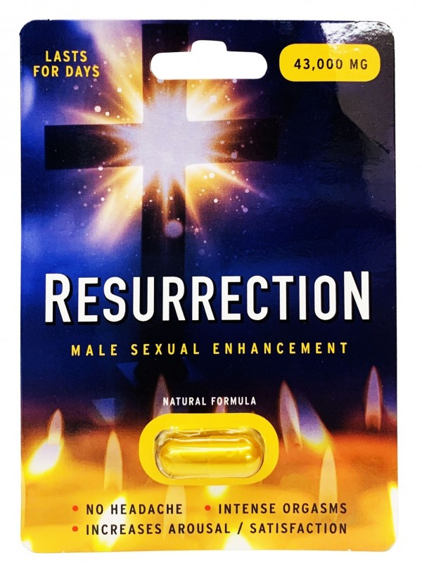 Resurrection 43000mg Male Sexual Performance Enhancer Gold Pill front