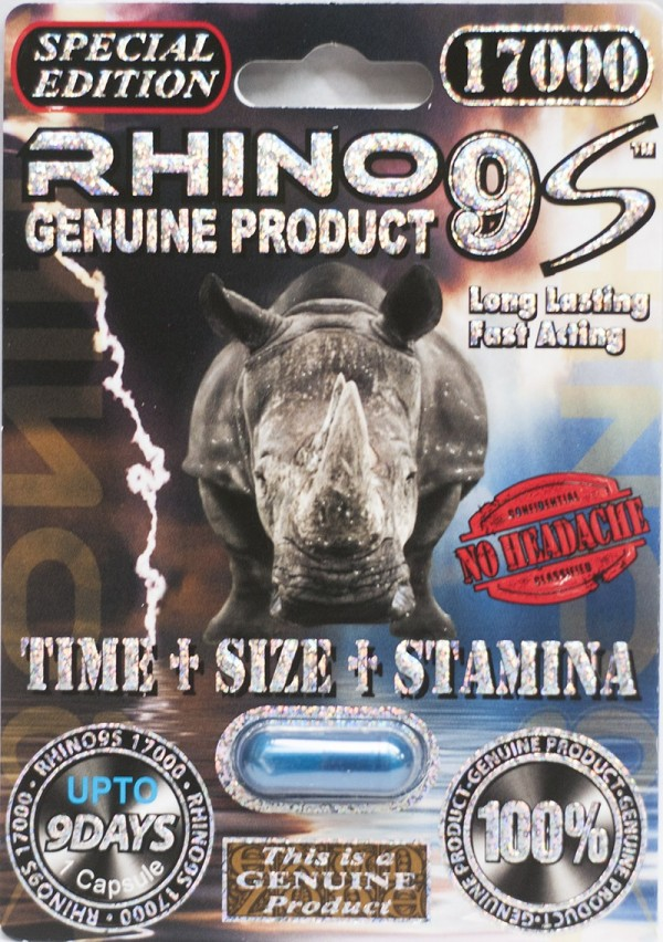 Rhino 9S 17000 Genuine Male Sexual Enhancer 1 Blue Pill