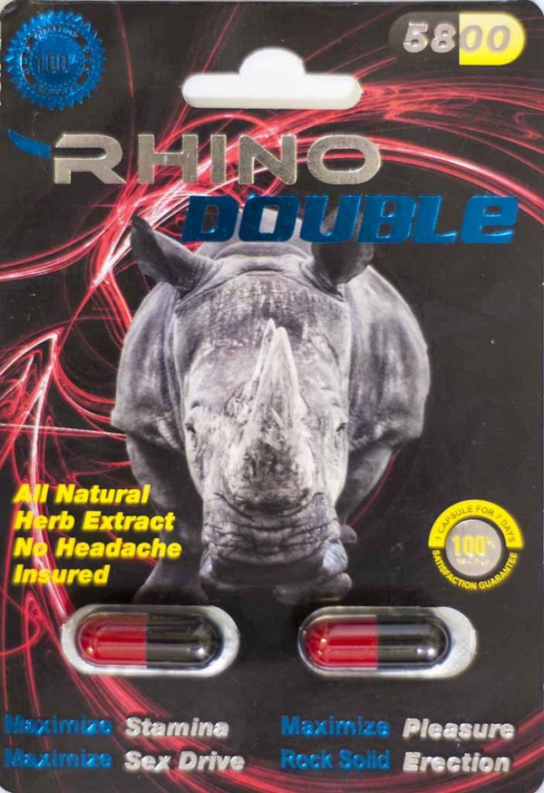 Rhino Double 5800 Male Sexual Performance Enhancer 2 Pills