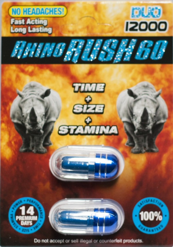 Rhino Rush 60 Duo 12000 Male Sexual Enhancer Pill