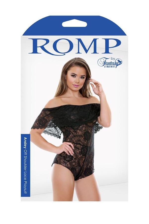 Ansley Off Shoulder Lace Playsuit Romp R534