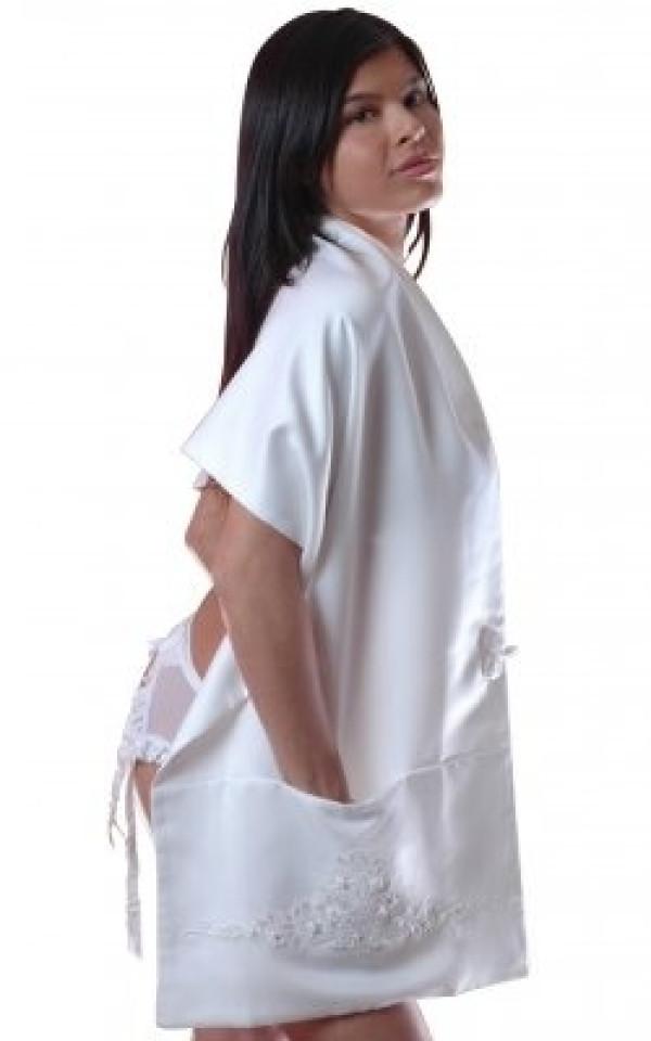 Style S4 Bridal Satin 72 Inches Long Shawl