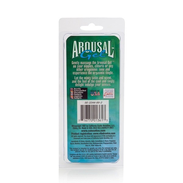 Arousal Gel For Her Cool and Tingly Mint Flavored Women by California Exotic Noverlties
