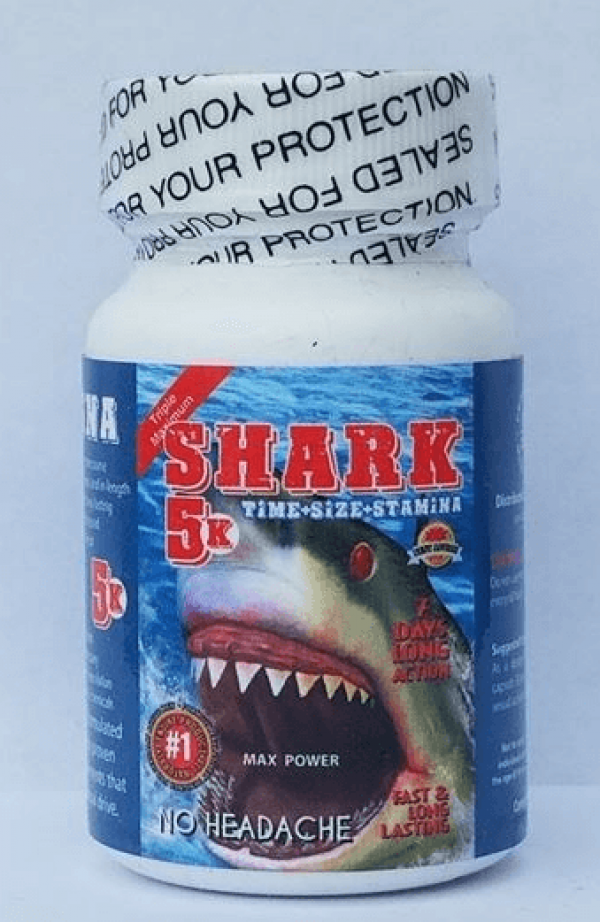 Shark 5K Male Sexual Performance Enhancement 6 Pills