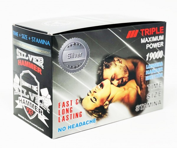 Silver Hammer 19000 Triple Maximum Power Male Enhancement Platinum Pill