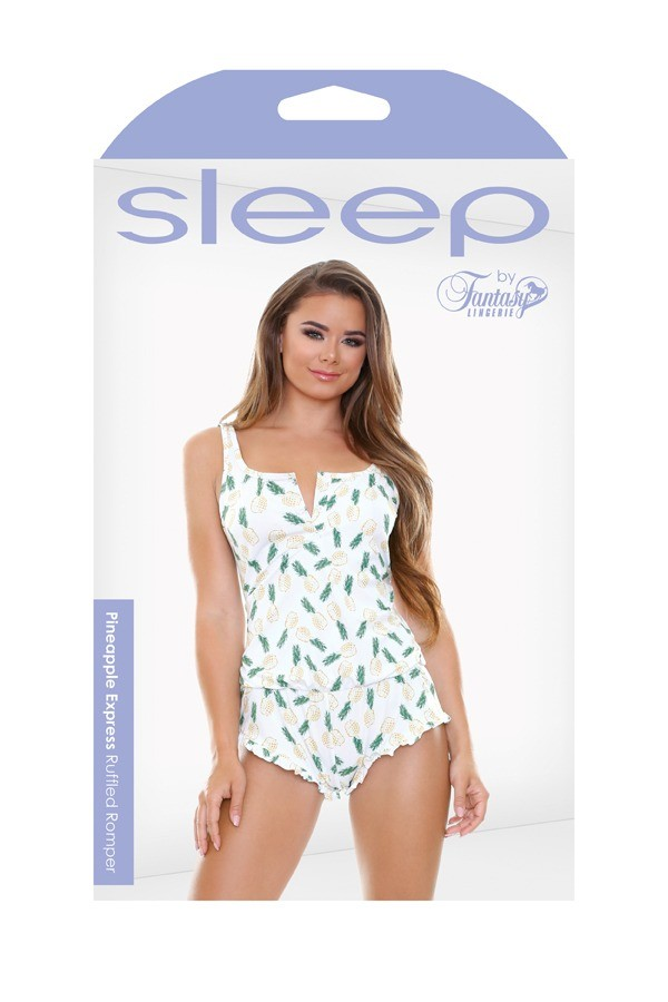 Pineapple Express Ruffled Romper Sleep S168