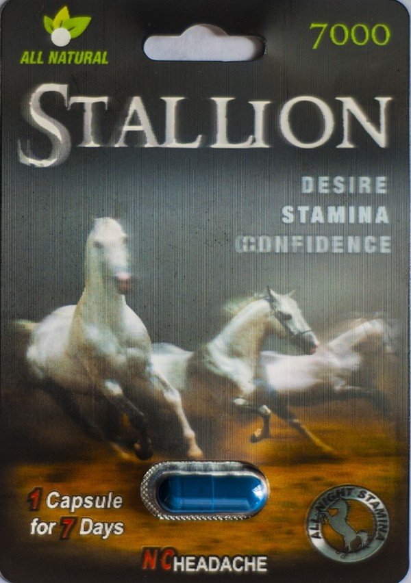 Stallion 7000 Male Enhancement Pill 3D Package Up To 7 Days
