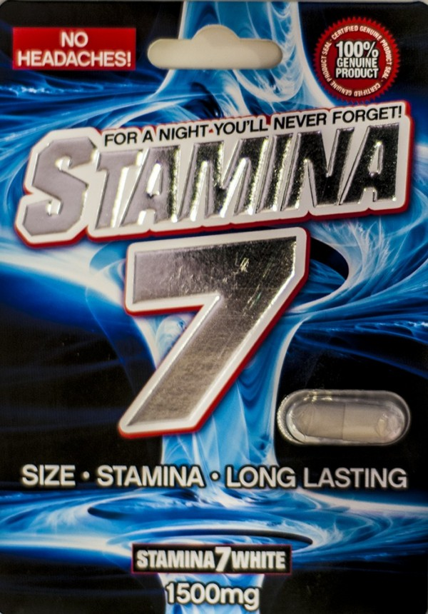 Stamina 7 White 1500mg Male Sexual Performance Pill No Headache