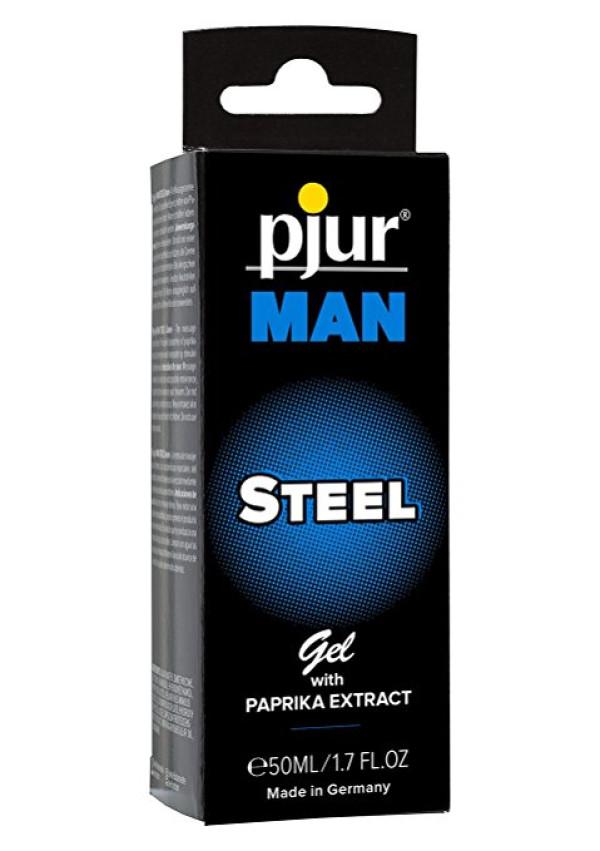 Man Steel Gel with Paprika Extract 1.7 oz Pjur