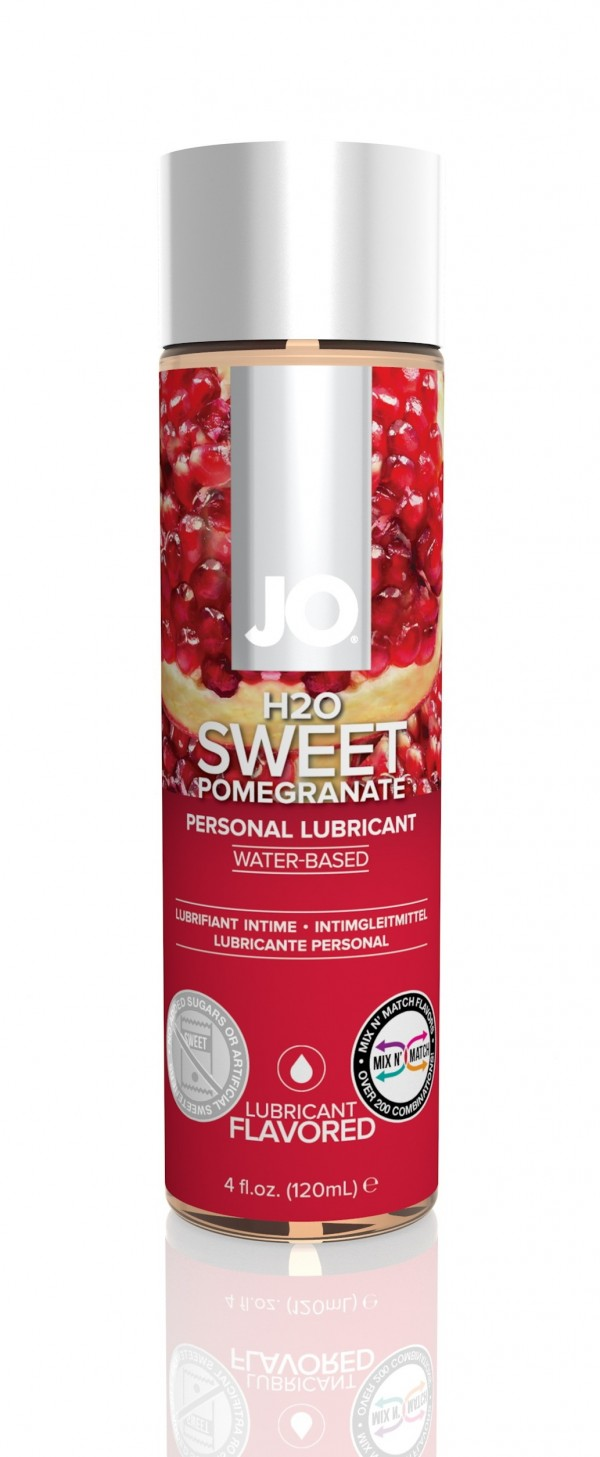 Jo H2O Flavored Lubricant Sweet Pomegranate 4 fl.oz