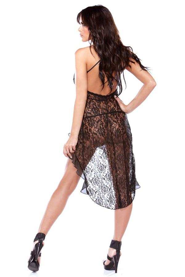 Lace Dress G-string Tease B428